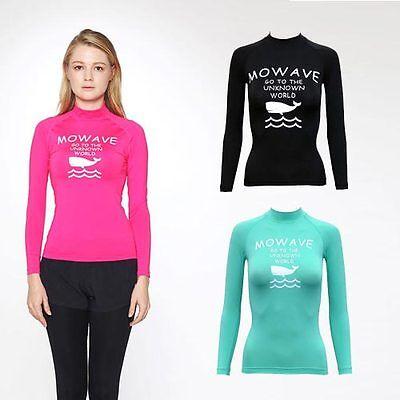 Mowave women's girl willy rashguards surfing shirts swimwear lognsleeve spf50+