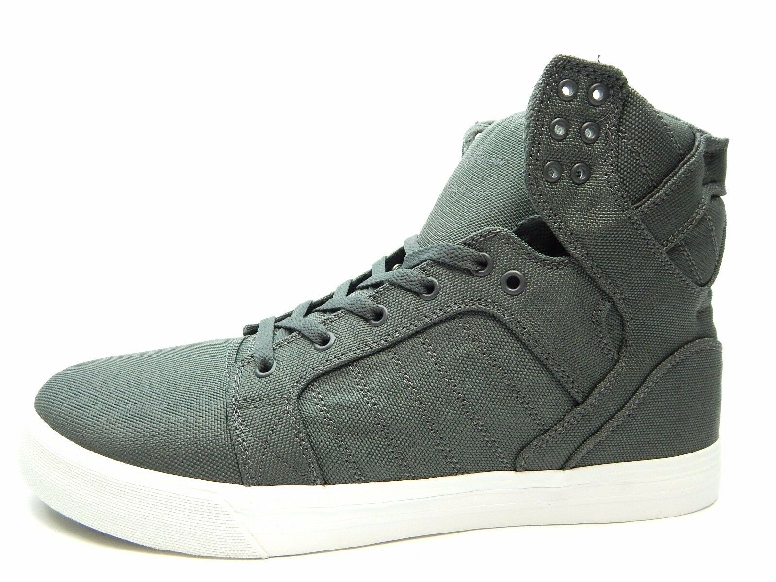 SUPRA SKYTOP CHARCOAL WHITE MEN SHOES SIZE 8.5 TO 13  s18251