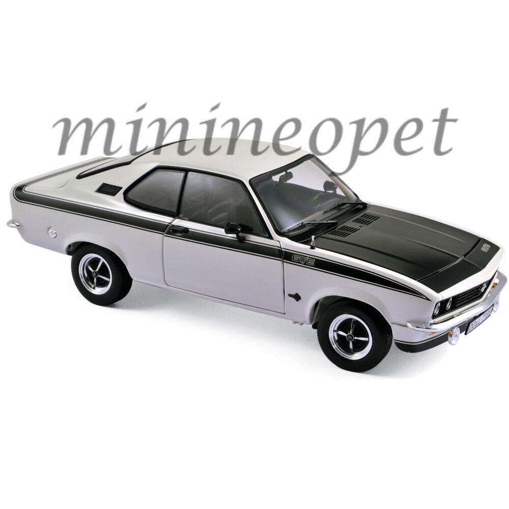 Norev 183634 1975 75 OPEL OPEL OPEL MANTA GT E 1 18 Diecast Modelo Coche blancoo 09161c