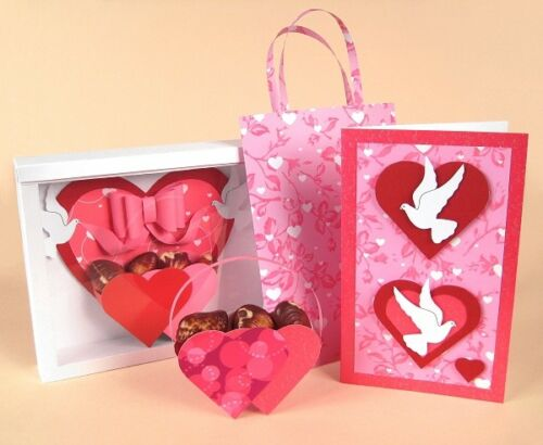"""by Card Carousel A4 Card Making Templates for /""""Love Birds/"""" 3 templates in 1"""