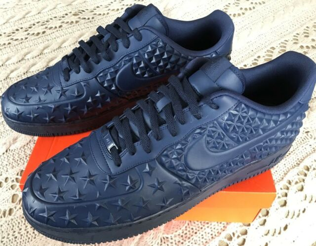 detailed look d73f1 15609 Nike Air Force 1 Lv8 VT Star 789104-400 Midnight Independence Day Shoes  Men s 17 for sale online   eBay