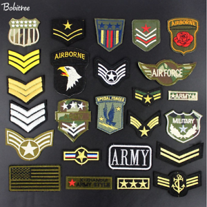 Patch-Toppa-Esercito-Militare-Military-AirBorne-AirForce-Ricamata-Termoadesiva