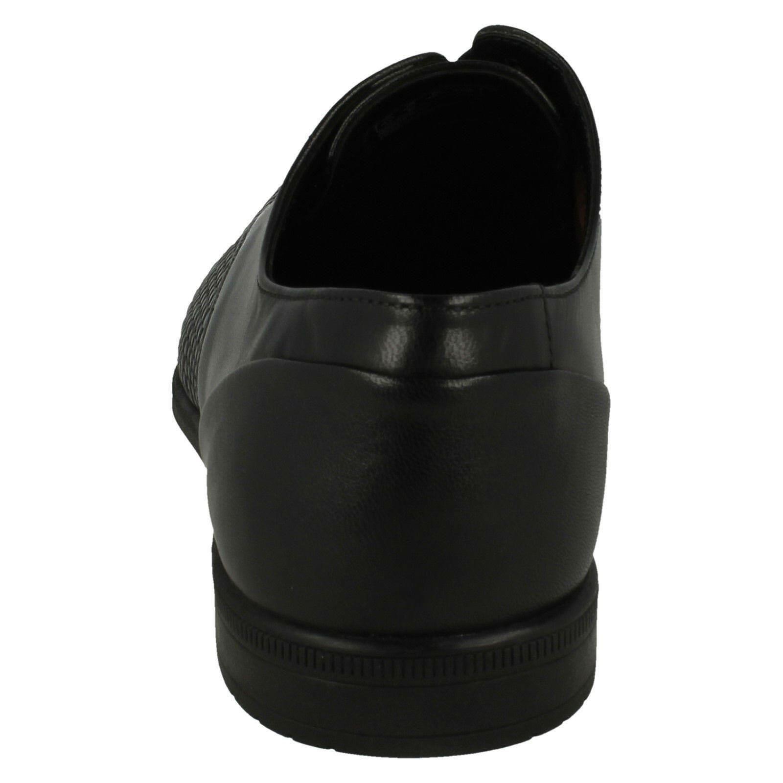 Herren Clarks Bampton gewebt Smart Leder Schnürschuhe G PASSFORM -