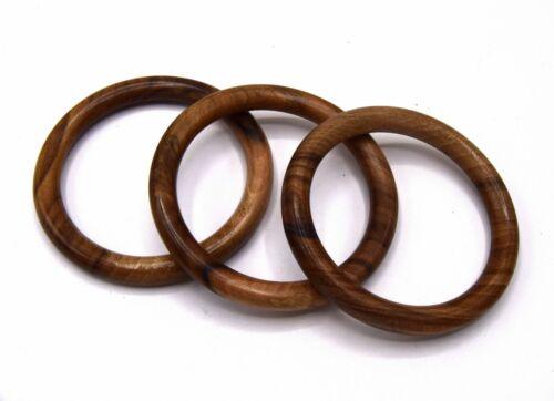 1 Bracelet jonc en bois de noyer Corse tourné à la main