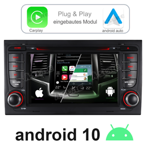 32GB Carplay Android Auto 10 Navi Autoradio DVD GPS für Audi A4 S4 RS4 Seat EXEO