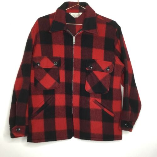 50s 60s Foremost Wool Shirt Jacket Mens M Hunting