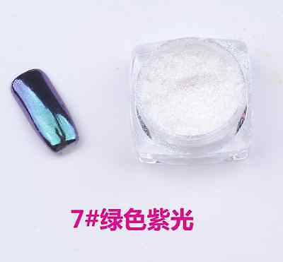 Metallic Mirror Powder Nail Glitters Dust Gold Silver 6 Colors Chrome Pigment