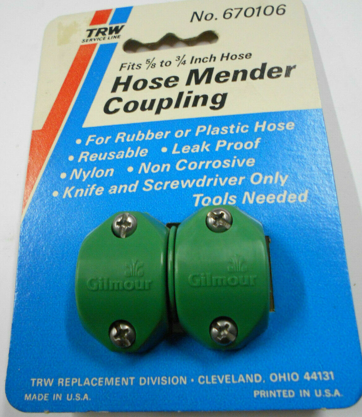Gilmour Hose Mender Coupling Fits 5/8