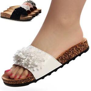 Donna-MULI-FIORE-pantofole-sandali-Sandali-con-plateau-Pantofola-Pantofole