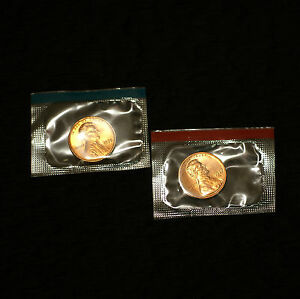 2000 P /& D Lincoln Cents Gem Bu Set-mint cellophane