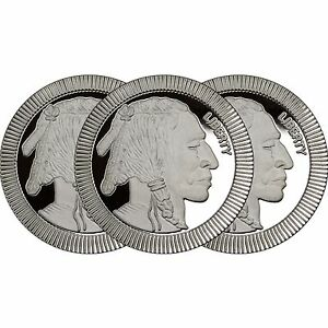 Silvertowne Buffalo Stackables 1oz 999 Silver Medallion