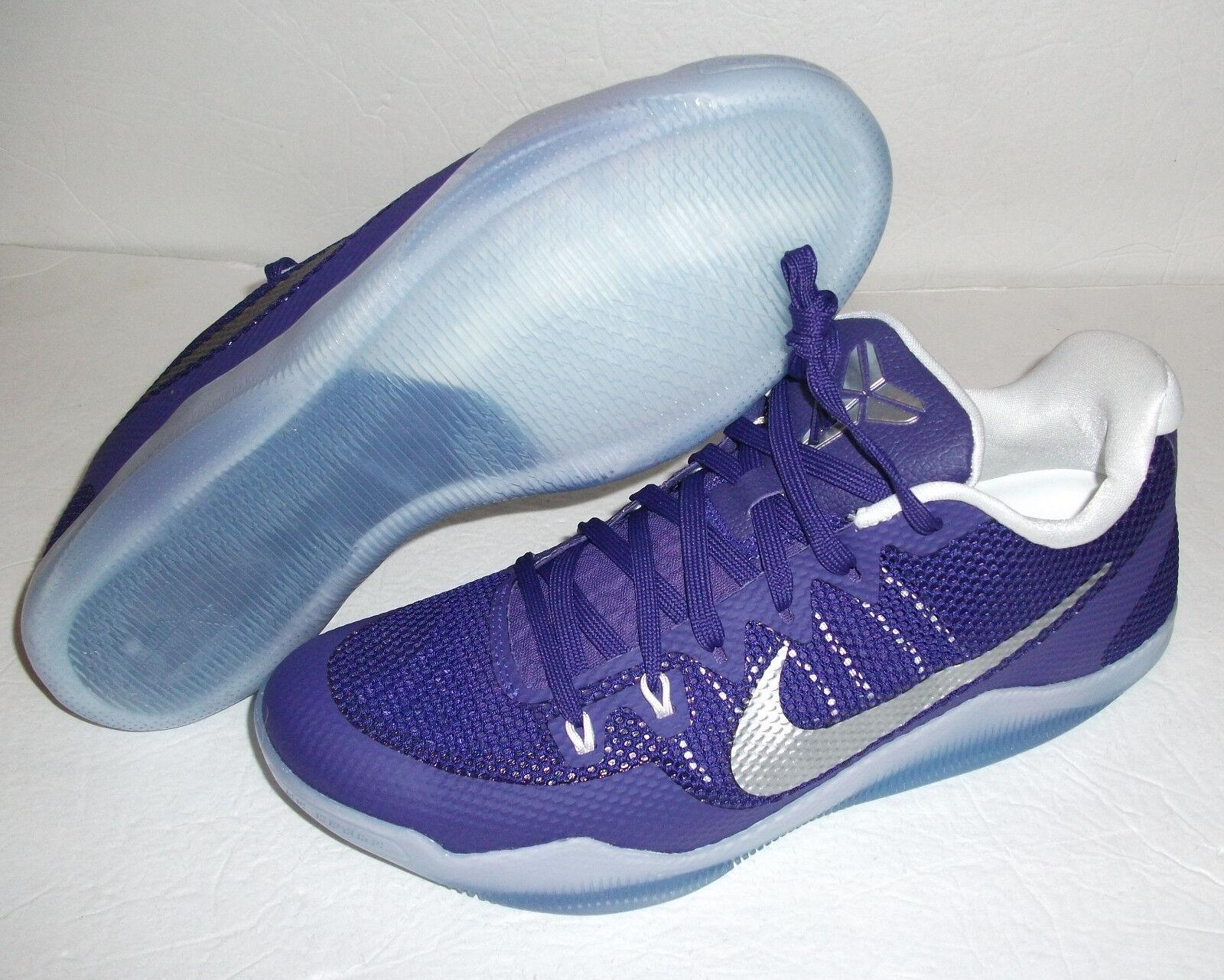 New Nike Kobe XI Promo, Multi Size, Purple/Silver, 856485-551 Sample