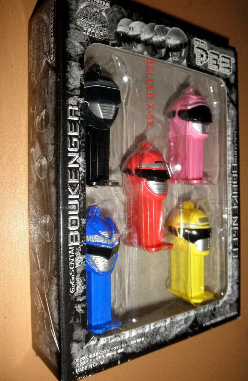 Super Sentai toy mini  pez figure Boukenger japonais Power Rangers Rouge Rose Noir  service attentionné