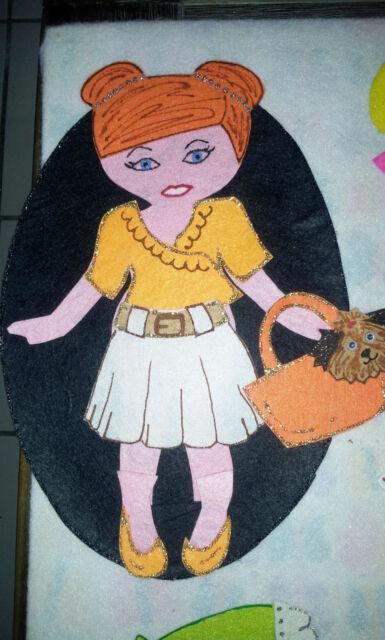 FELT BOARD STORY RHYME TEACHER RESOURCE - DRESS UP DOLL/FASHION/GIRL/CLOTHES