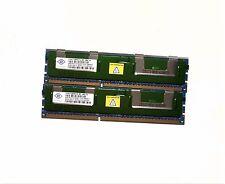 LOT 8GB (2x4gb)Nanya NT4GC72B4NA1NL-BE  2RX4 PC3-8500R 1066MHZ ECC Server ram !