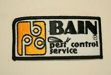 Vtg. Bain Pest Control Local New England Lowell Mass Co. Cloth Patch NOS 1980s