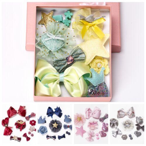 10pcs set Niña Clip de pelo arco flor Pinza horquillas de Cabello Headwear