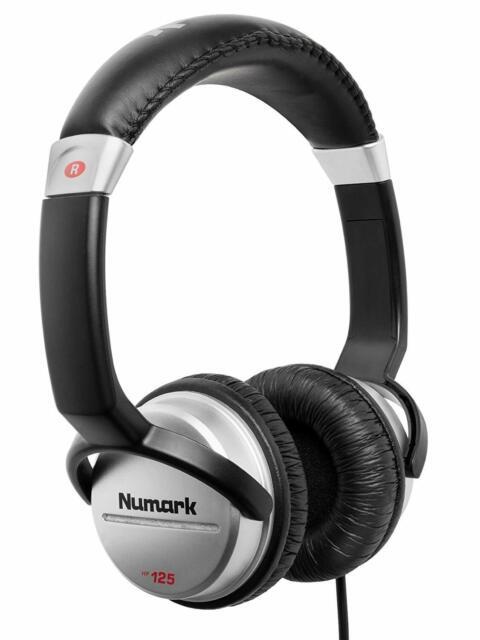 Numark HF125 - Cuffie Ultra Portatili Professionali per Dj con Cavo da 1,80 m