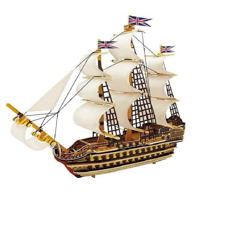 prezzo all'ingrosso e qualità affidabile Nave royal navy veliero vascello modellololino 3D 3D 3D da montare puzzle victory gioco  grande vendita