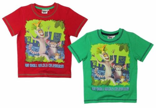 Pinguini di Madagascar T-shirt a maniche corte 98 104 110 122 128 giovani Bambini Maglietta