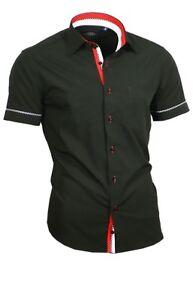 Hemd-Herrenhemd-mit-Brusttasche-Kurzarm-Shirt-Binder-de-Lux-84006-schwarz