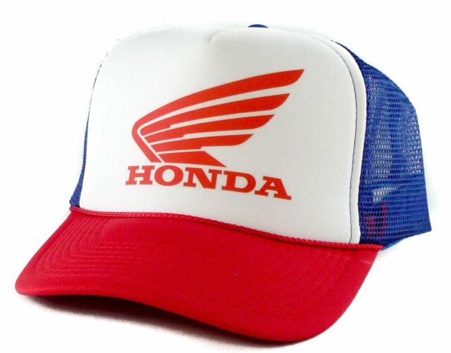 84b82fb51fbcbd Honda Trucker Hat Mesh Hat Snapback Hat Red White and Blue for sale ...