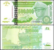 Zaire 500,000 (500000) Zaires, 1996, P-78, UNC