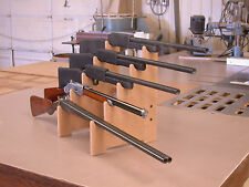 Rifle Shotgun Sword Gun Show Display Stand Gun Rack 5-Gun Table Top Space Saver!
