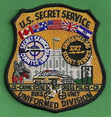 US SECRET SERVICE UNIFORM DIVISION WHITE HOUSE SHOULDER PATCH