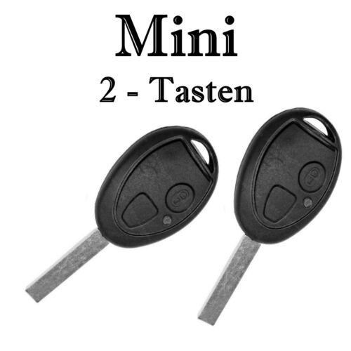 2x Ersatz Autoschlüssel Gehäuse für Mini 2 Tasten Fernbedienung mit Rohling KS14