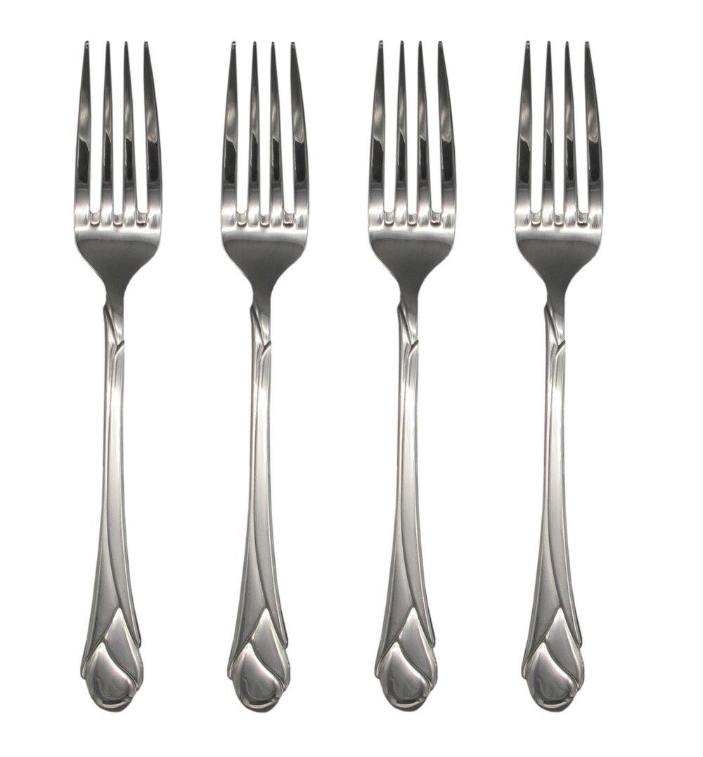 Mikasa Couverts Sweet Pea 18 8 en Acier Inoxydable 8  Dinner Fork (set de quatre)