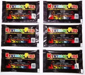 Mystical Fire Colorant 12 Pack Packets Campfire Fireplace Flame Color Camping