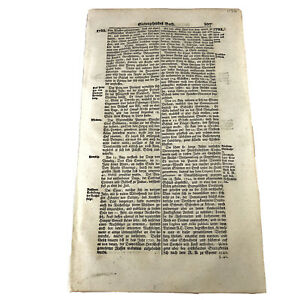 LARGE-1700-s-German-Folio-Manuscript-Book-Leaf-Decor-Document-Old-Antique-H
