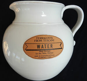 """**pichet / Cruche Terracotta From Tuscany """"water"""" Valeur Formidable"""