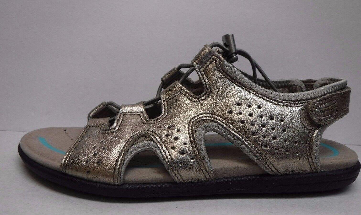 Ecco Talla US 9 9.5 gris Nuevos Mujer Zapatos Sandalias cueros Metálico