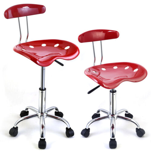 2PC Adjustable Bar Stools ABS Tractor Seat Swivel