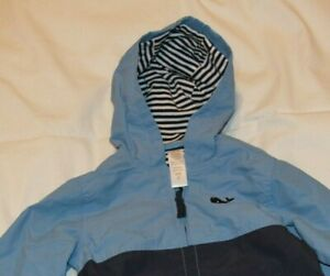 Little-Me-Blue-Toddler-Raincoat-2T-Zip-Up-Raincoat-Light-Jacket-with-hood