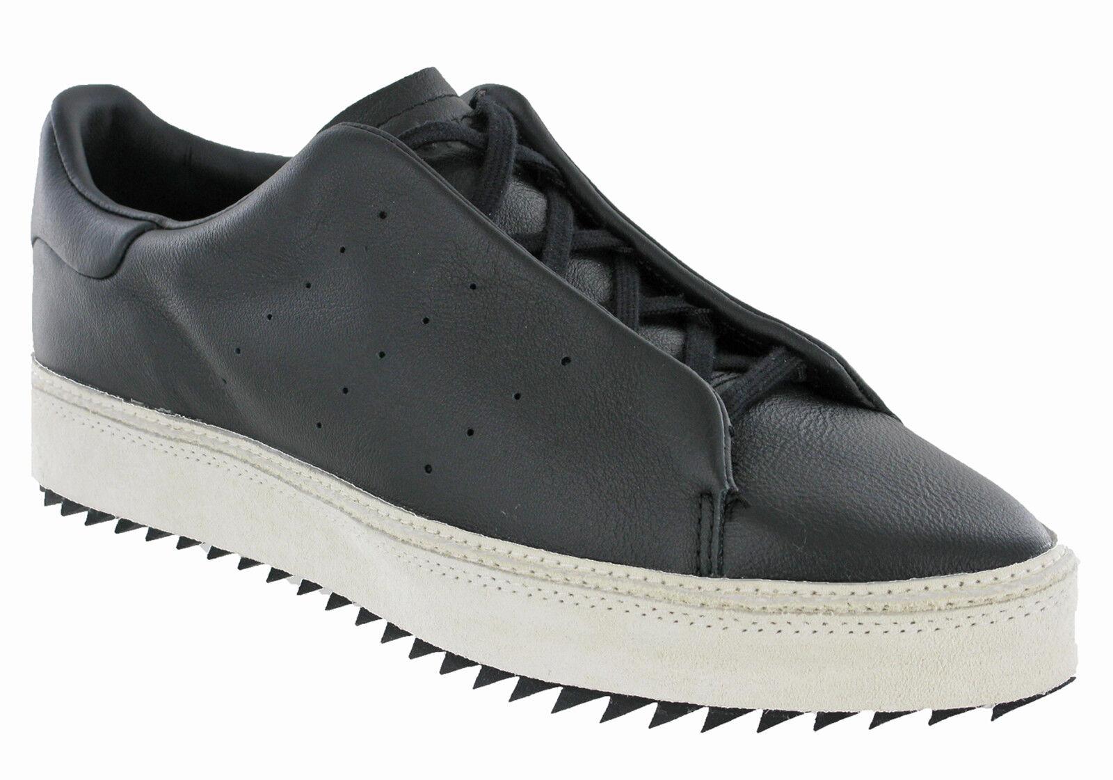 Chaussures de sport à plateforme / plate-forme Adidas Point Court pour femme S81475 noires, UK 3-7