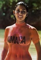 1970s Jamaica Travel Bureau Wet T-shirt Girl Poster Replica Magnet -