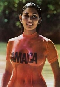 1970s Jamaica Travel Bureau Wet T Shirt Girl Poster Replica Magnet