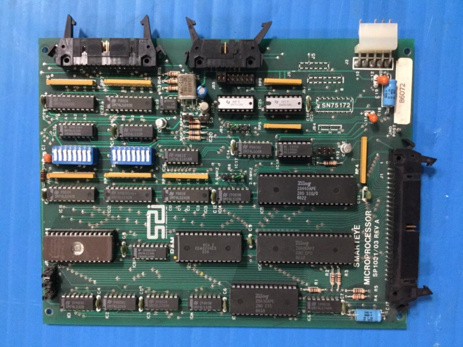 Smarteye Microprocessor SP1001 03 Board Card (C27)
