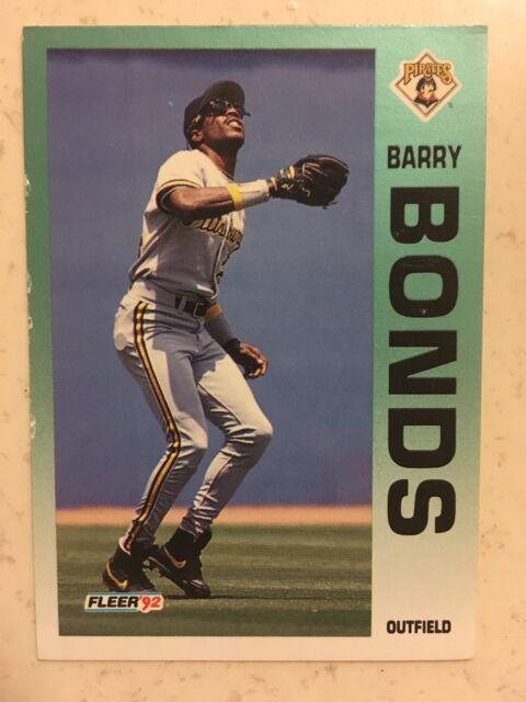 1992 Fleer Barry Bonds Pittsburgh Pirates 550 Baseball Card