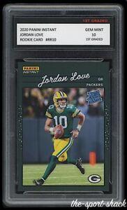 🌟2020 Jordan Love Panini Instant Rookie 1st Graded 10 Green Bay Packers RC Card