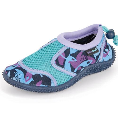 Kids Urban Beach Purple Camo Aqua Shoes Reef Water Beach Surf Dive New