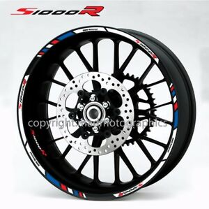 SR Motorcycle Wheel Decals Stickers Set Bmw Motorrad Rim - Bmw motorrad motorsport decals