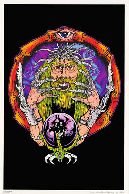 LOT OF 2 POSTERS: FANTASY : WIZARD - BLACK LIGHT & SMOOTH     #FL3288S    RC22 Q