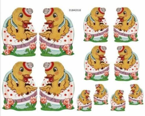 VinTaGe IMaGe NuRSeRY CHiCKeN DuCK EasTeR EGG ShaBby WaTerSLiDe DeCALs