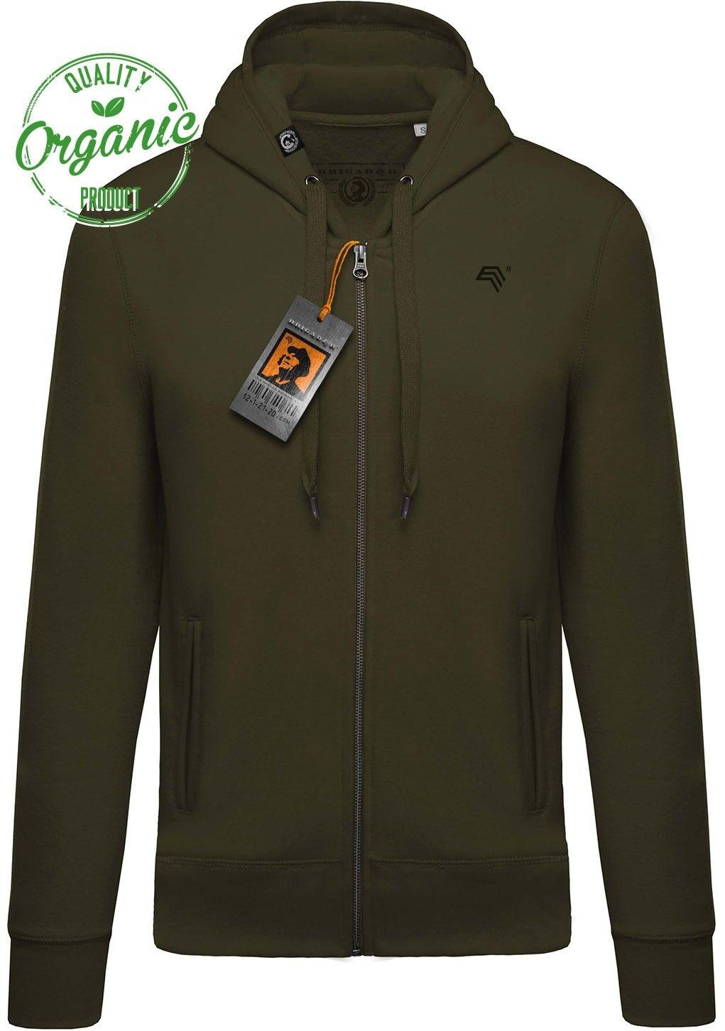 KRB k484 Bio Cotone kapuzensweatjacke Organic brigadeer hoodie, verde oliva