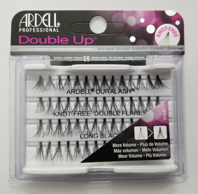 (LOT OF 3) Ardell Duralash Knot-Free DOUBLE UP Flares LONG Individual Eyelashes