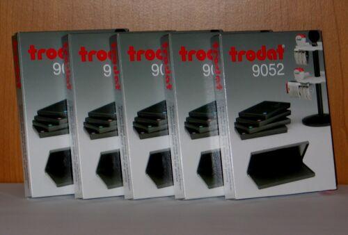 Stempelkissen-schwarz-blau-violett-grün-rot Trodat Stempelkissen-110x70 mm